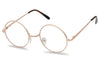 Rose Gold John Lennon Small Penny Size Round Circle Clear Lens Eye Glasses