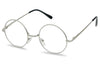 Small Penny Size Circular John Lennon Tiny Round Clear Lens Silver Frame Non Prescription Glasses  688CLR SU688 688G