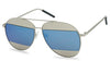 Blue Aviator Sunglasses Oversized 70's Style Eye Glasses for Men's and Women's
