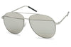 Silver Frame and Lens Aviator Style Sunglasses for both men and women SU227RV AB227RV AB 227RV 227RV