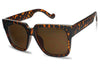 oversized squared tortoise shell frame original womens old school square oversize dark amber tint lenses