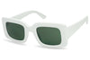 Womens White Square Clout Goggles Bold Chunky Sunglasses