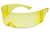 Transparent Yellow Wrap Around Shield Night Driving Sunglasses for Men and Women KS1521C SU1521