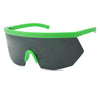 Neon lime green party festival full shield visor wrap around sunglasses