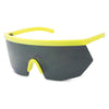 highlighter bright neon yellow sport wrap around sunglasses