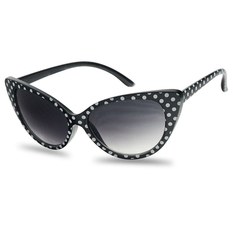 50'S INSPIRED POLKA DOT CAT EYE SUNGLASSES