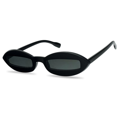RARE CUT-OUT  OVAL POINTED CAT EYE SUNGLASSES