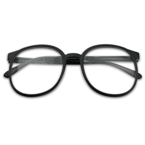 OVERSIZED DAPPER ROUND FASHION GLASSES