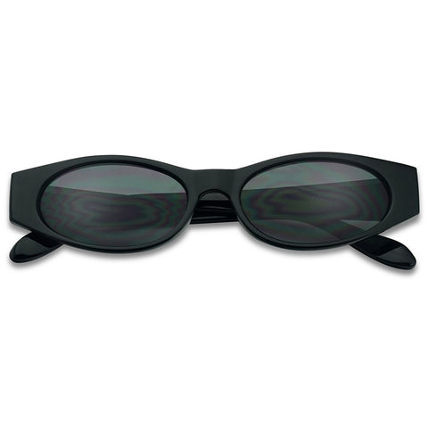 90's OVAL SMALL NARROW SUNGLASSES
