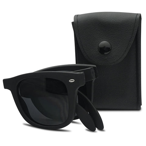 FOLDING COMPACT MATTE SUNGLASSES
