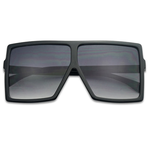 XXL SHIELD SQUARE FLAT TOP SUNGLASSES