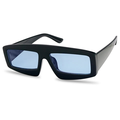 RECTANGULAR MONO BLOCK SHIELD FRAME SUNGLASSES