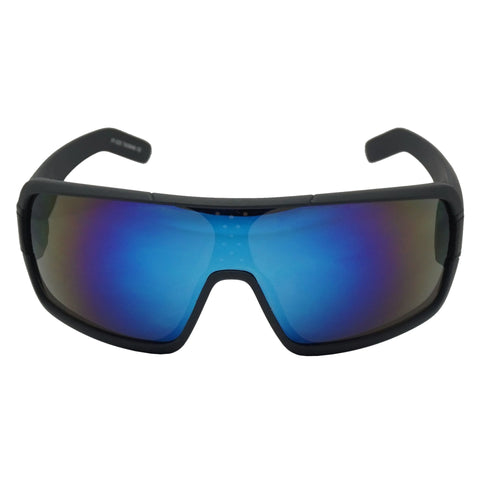 FULL SHIELD MIRRORED SPORT SUNGLASSES
