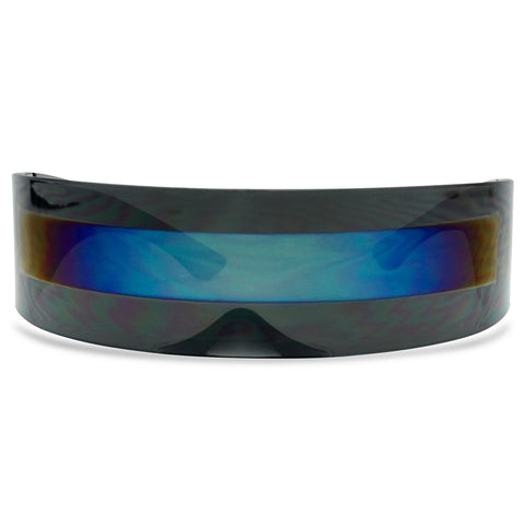 FUTURISTIC WRAP AROUND CYCLOPS SUN GLASSES