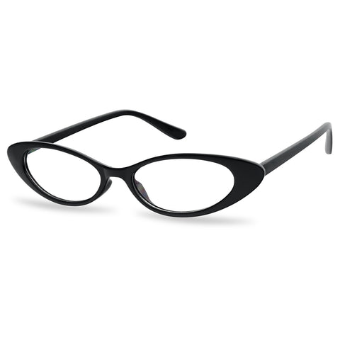SMALL SLIM 90'S VINTAGE OVAL CAT EYE GLASSES