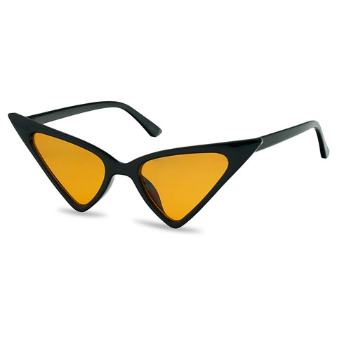 SUPER HIGH POINTED GEO CAT EYE SUNGLASSES