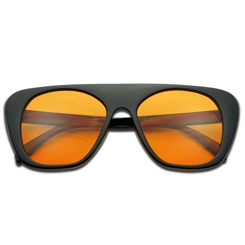 BOLD FLAT TOP COLORED SUNGLASSES