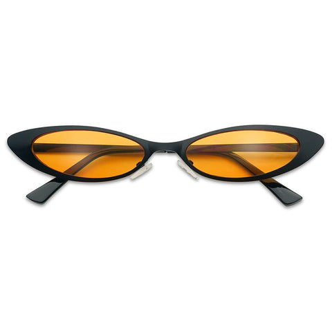 SMALL COLORFUL METAL CAT EYE SUNGLASSES