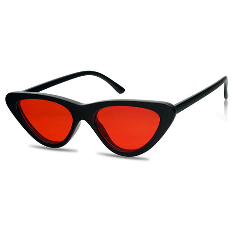 RETRO 1950'S STREAMLINE FLAT CATEYE SUNGLASSES