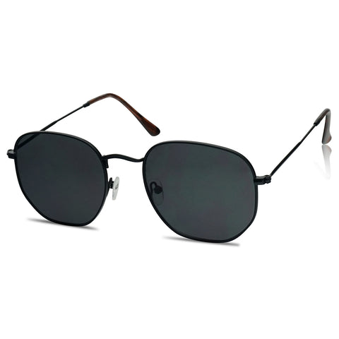 54MM VINTAGE FLAT LENS GEOMETRIC SUNGLASSES