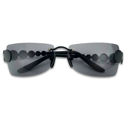 UNIQUE RIMLESS VINTAGE DISCO SUNGLASSES