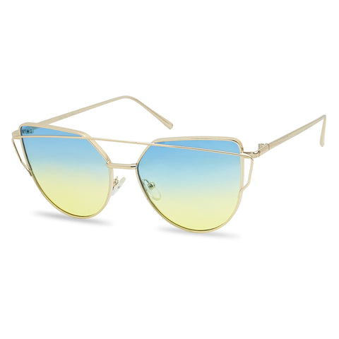 EXOTIC CROSSOVER BAR PANTONE CAT EYE SUNGLASSES