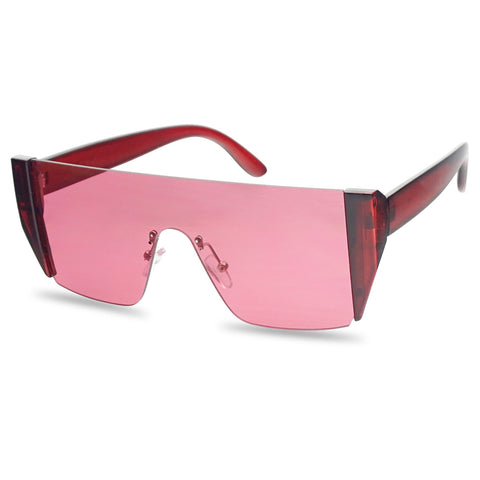 OVERSIZED SUMMER BRIGHT FULL SHIELD SUNGLASSES