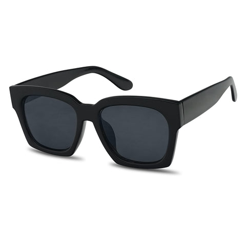 OVERSIZED THICK SQUARE BOYFRIEND SUNGLASSES
