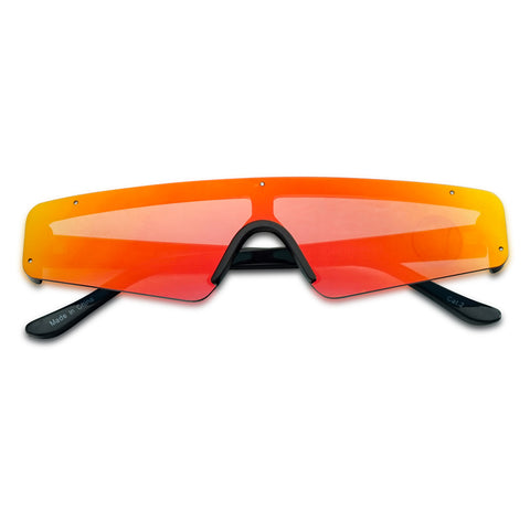 ELECTRIC RIMLESS FLAT TOP NARROW SHIELD SUNGLASSES