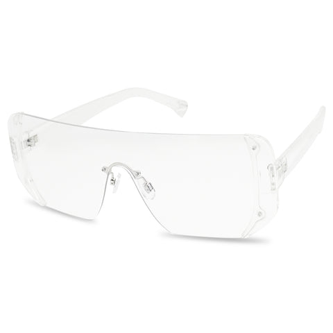 FRAMELESS FUTURISTIC SHIELD GLASSES