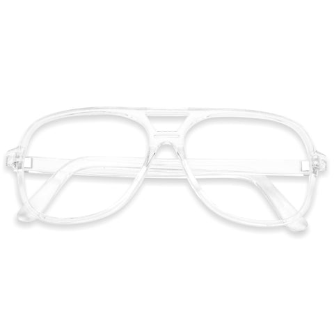 FULL TRANSPARENT 70'S VINTAGE EYE GLASSES