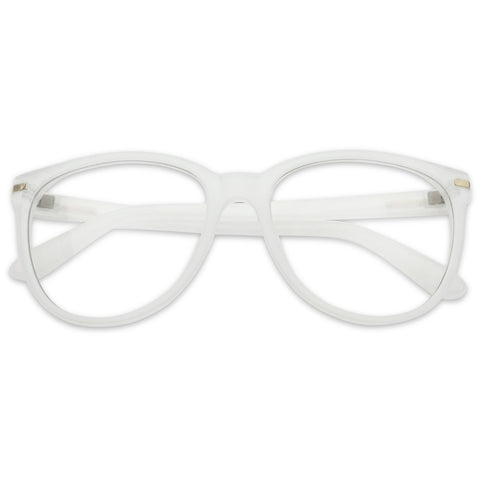 OVERSIZE ROUND CLEAR CLASSY EYE GLASSES