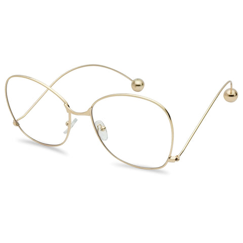 BUTTERFLY SWAN DROP ACCENT BALL TIP GLASSES