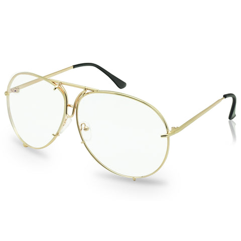RETRO OVERSIZED MODERN CRAFTED AVIATOR GLASSES