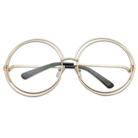 OVERSIZED ROUND DOUBLE WIRE BOHO GLASSES