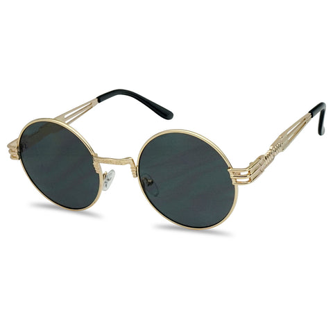 VINTAGE METAL ROUND STEAMPUNK SUNGLASSES