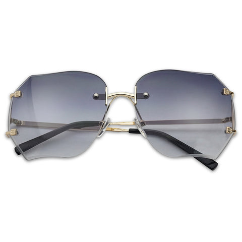 70'S OVERSIZED RIMLESS SUNGLASSES