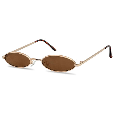 1990's COOL VIBES OVAL METAL SUNGLASSES