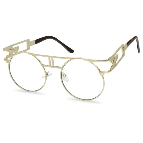 STEAMPUNK CUT OUT ROUND GLASSES
