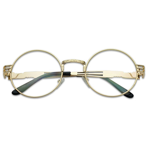 ROUND VINTAGE STEAMPUNK EYE GLASSES