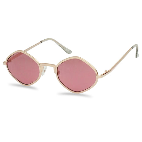 FLAT FULL METAL COLORFUL GEOMETRIC SUNGLASSES