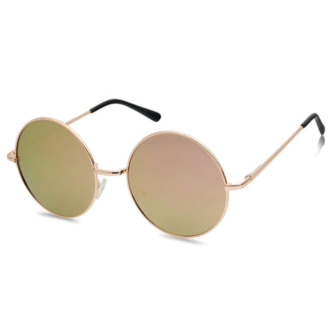58MM FLAT CIRCLE MIRRORED SUNGLASSES