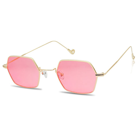 THIN METAL GEOMETRIC LIGHTWEIGHT SUNGLASSES