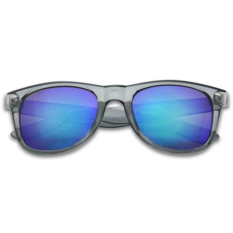 CLASSIC 53MM MIRRORED HORNED RIM SUNGLASSES