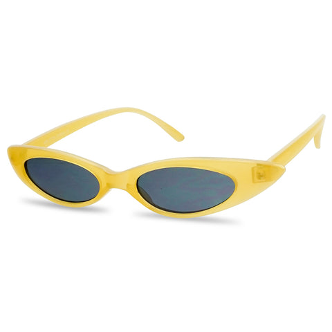 ULTRA SLIM WRAPPED OVAL CAT EYE SUNGLASSES