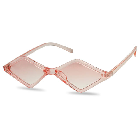 RETRO DIAMOND SHAPED CANDY COLOR SUNGLASSES
