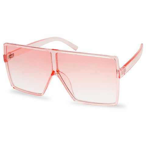 OVERSIZED SQUARE CANDY COLOR TONE FESTIVAL SUNGLASSES
