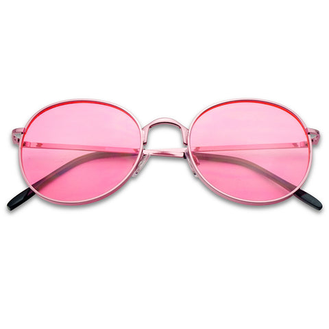 CLASSIC VINTAGE ROUND COLORFUL SUNGLASSES