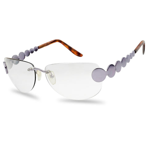 VINGTAGE OVAL RIMLESS DISCO HIPPIE SUNGLASSES