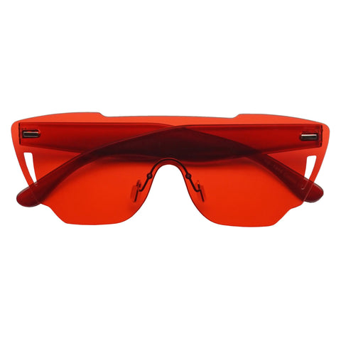 FULL SHIELD FLAT COLORFUL FUTURISTIC SUNGLASSES